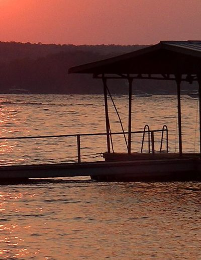 sun set Ozark lake july 1st 2006