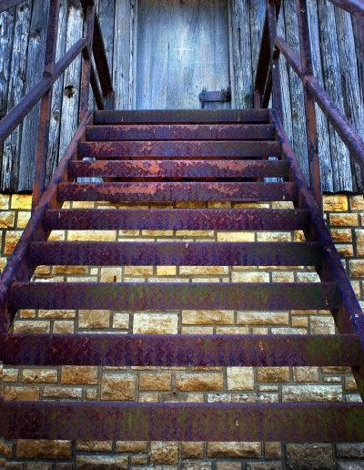 iron stair way Pere Marquette park